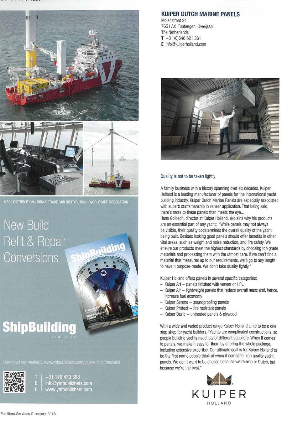 Kuiper Holland – Logo – Article Dutch Marine Panels