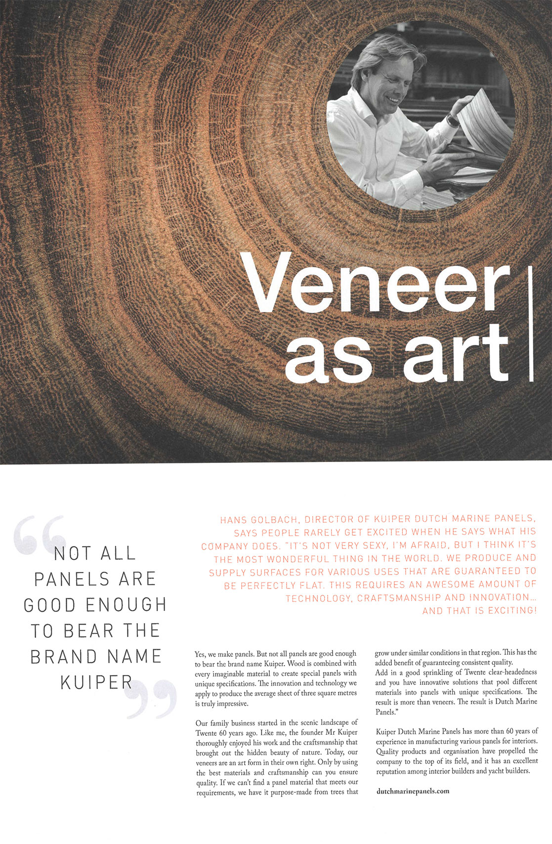 Kuiper Holland – Logo – Veneer as art